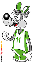 Karakter kartun serigala gratis untuk dicetak