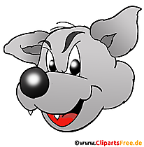 Gambar kartun serigala dalam resolusi tinggi