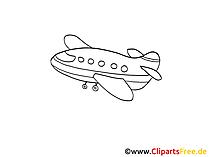 Airplane, plane clip art, image, pic, comic, cartoon