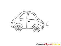 Alltagsauto Zeichnung, Grafik schwarz-weiss, Clipart, Bild
