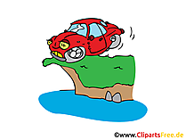 Auto bremst Bild, Clipart, Illustration, Grafik, Zeichnung kostenlos