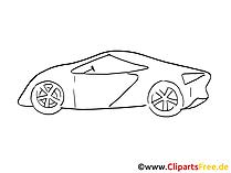 Autodesign Zeichnung, Grafik schwarz-weiss, Clipart, Bild