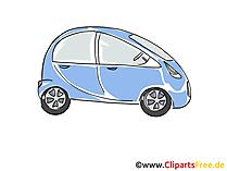 自動車カークリップアート、イメージ、漫画、コミック、グラフィック