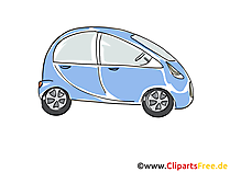 Automobil PKW Clipart, Bild, Cartoon, Comic, Grafik