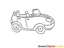 自動車図面、白黒グラフィック、クリップアート、絵