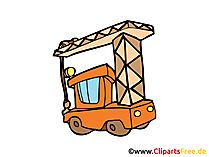 Baukran Bild, Clipart, Illustration, Grafik, Zeichnung kostenlos