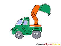 Baumaschine Bagger Clipart, Bild, Cartoon, Comic, Grafik