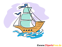 画像、クリップアート帆船無料