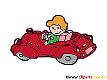 Cabrio Bild, Clipart, Illustration, Grafik, Zeichnung kostenlos