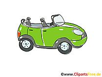 Cabriolet Clipart, Bild, Cartoon, Comic, Grafik