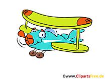 Cartoon Flugzeug mit Motor gratis