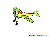 無料クリップアートパワード飛行機