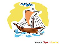 クリップアートバイキング船無料