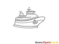 クルーズ客船図面、白黒グラフィック、クリップアート、写真
