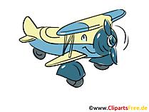 Doppeldecker Flugzeug Bild, Cliparts, Grafik