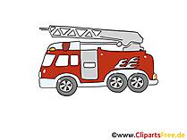 消防車緊急車両画像、漫画、クリップアート
