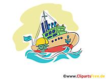 漁船のクリップアート、画像、漫画、グラフィック