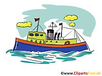 Fischerboot Nordsee Clipart, Bild, Cartoon, Grafik gratis