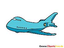 Flugzeug Bild, Clipart, Illustration, Grafik, Zeichnung kostenlos