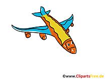 飛行機のクリップアートとイラスト