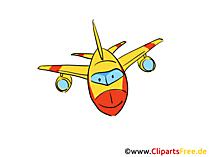 飛行機のクリップアート無料