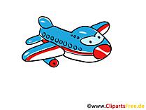 航空についての飛行機のクリップアート