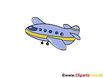 Flugzeug, Jet Clipart, Bild, Cartoon, Comic, Grafik