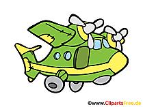 Flugzeug mit zwei Motoren Bild, Clipart, Illustration, Grafik