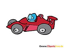 Formel 1 Rennwagen Cartoon, Bild, Clipart, Zeichnung