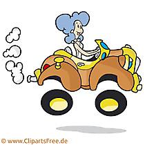 Frau am Steuer Clipart, Bild, Cartoon, Illustration