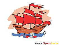 紫の帆イラスト、画像、クリップアート、アートワークとフリゲート