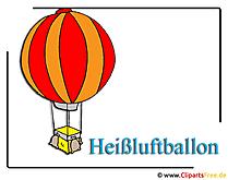 熱気球のクリップアート無料