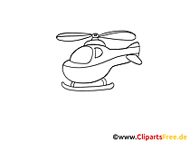 Helicopter clip art black and white