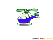 Helicopter Clip Art, Cartoon, Comic, Grafisch, Pic