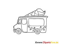 アイスクリームカーの写真、漫画、漫画、クリップアート