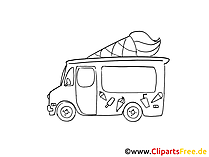 Ice cream car pic, cartoon, comic, clip art