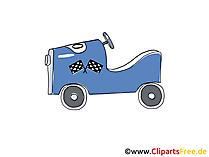 Kinder-Fahrzeug Clipart, Bild, Cartoon, Comic, Grafik