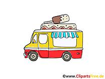 Kirmes-Verkaufswagen Clipart, Bild, Cartoon, Comic, Grafik