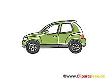 Kleiner PKW Clipart, Bild, Cartoon, Comic, Grafik