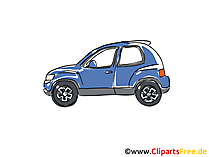 Kleinwagen Clipart, Bild, Cartoon, Comic, Grafik