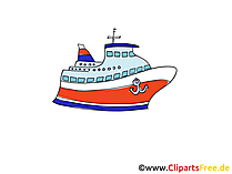 Kreuzfahrt Clipart, Bild, Cartoon, Comic, Grafik