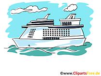 無料のクルーズ船のクリップアート