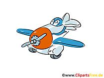 印刷用の面白い飛行機図面