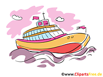 Luxury yacht clipart, picture, cartoon gratis