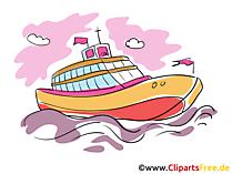 Luxus-Yacht Clipart, Bild, Cartoon gratis