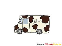 Milch Wagen Clipart, Bild, Cartoon, Comic, Grafik