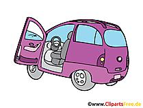 Minivan Bild, Clipart, Illustration, Grafik, Zeichnung kostenlos