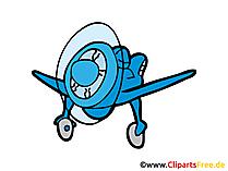Motorflugzeug Bild, Clipart, Illustration, Grafik, Zeichnung kostenlos