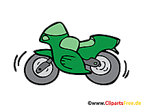 オートバイ、自転車のイメージ、クリップアート、イラスト、グラフィック、無料で描く