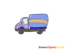 Nfz - Nutzfahrzeug Clipart, Bild, Cartoon, Comic, Grafik